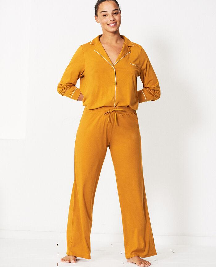 Veste de pyjama Jaune cumin Dimanche