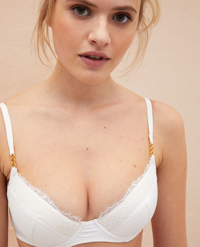 Soutien-gorge push-up mousses Blanc rosé Habibi