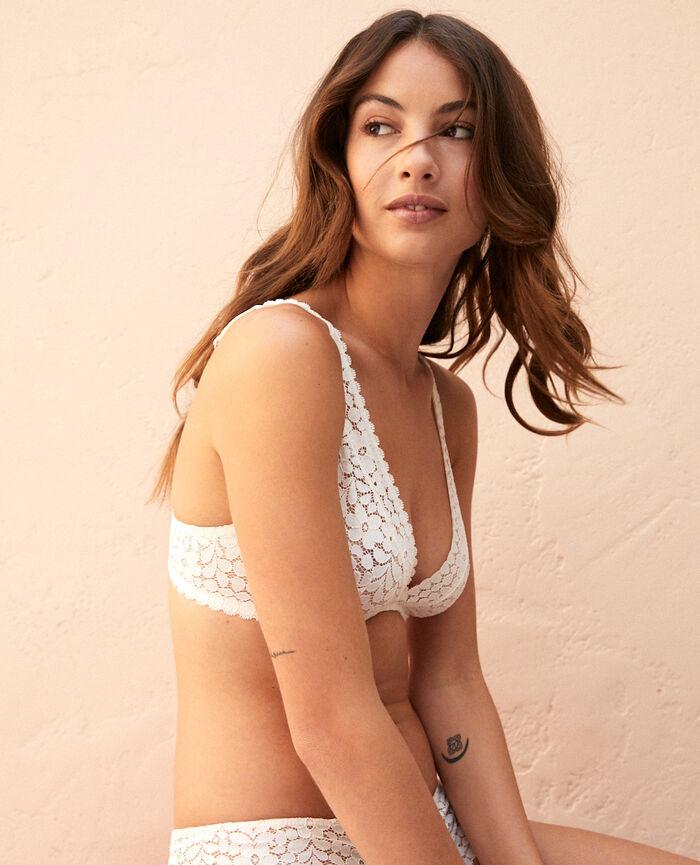 Underwired triangle bra Rose white Monica