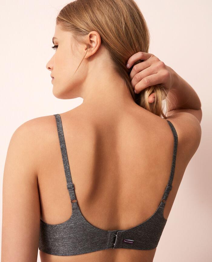Soft moulded triangle bra Flecked grey Fantomette