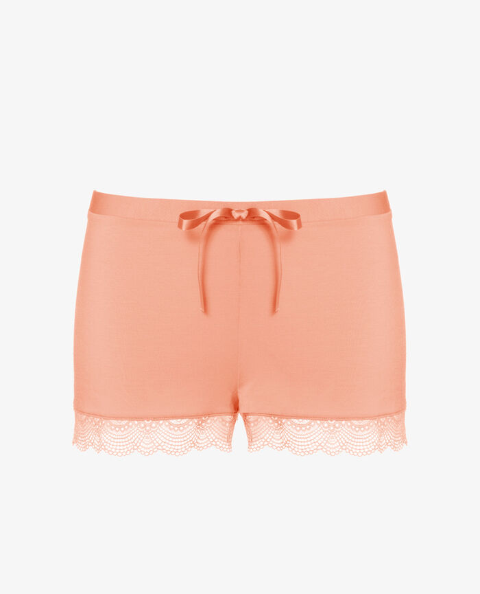 Pyjama shorts Grapefruit pink Flora