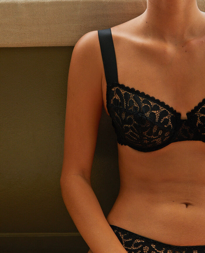 Half-cup bra Black Oisive