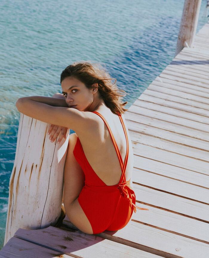 Maillot de bain une pièce paddé Rouge pamela Impala