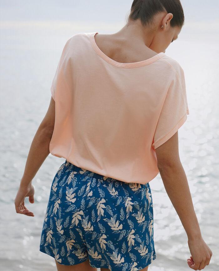Short de pyjama Aracée bleu sombrero Tamtam shaker