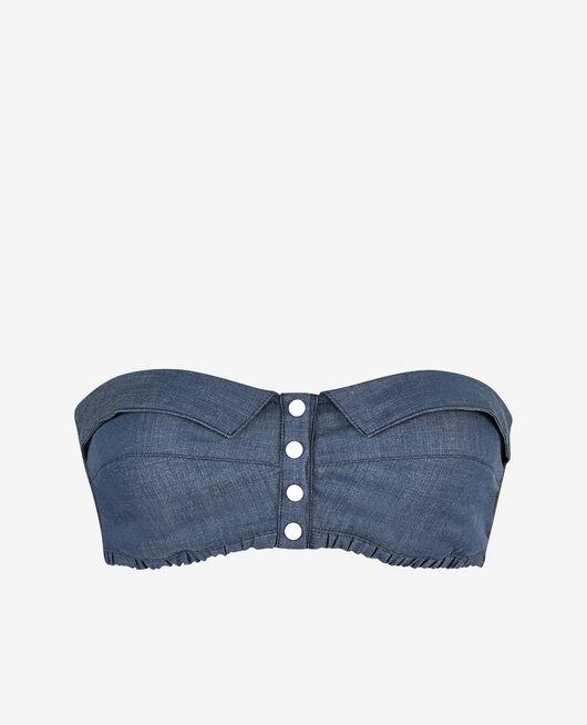 Soutien-gorge bandeau sans armatures Bleu marine Jean