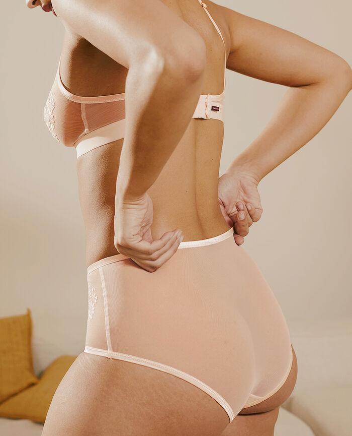 High-waisted briefs Peach pink Pure