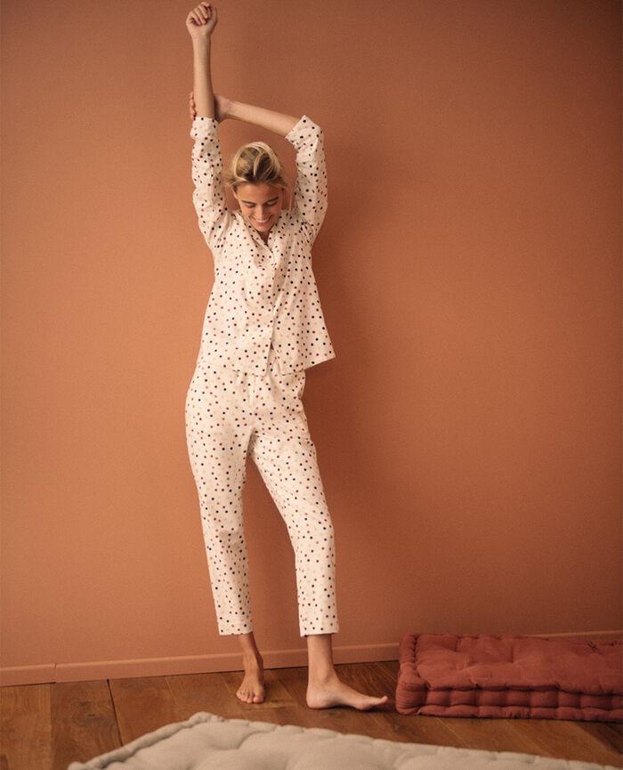 Set pyjama Polka blanc rose Dodo