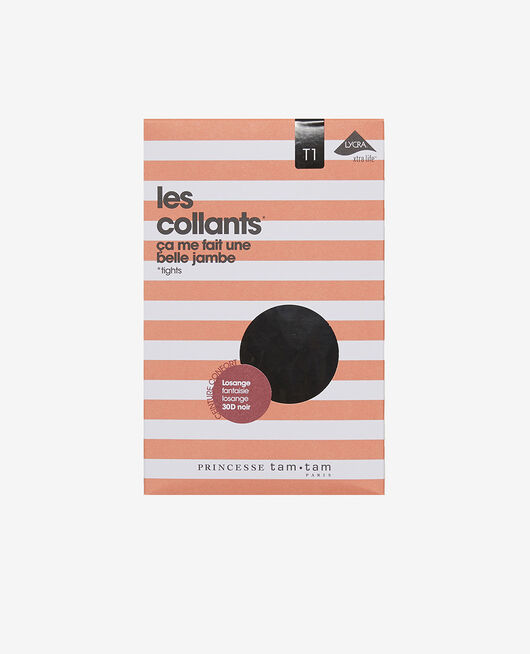 Collants Noir Losange