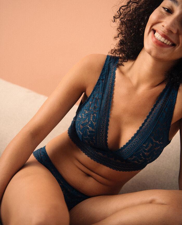 Soft bustier bra Deckchair blue Evidence - the take it easy