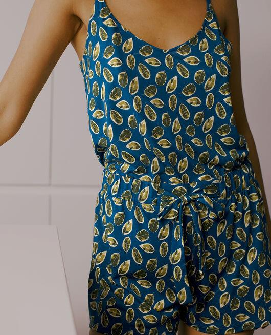 Pyjama shorts Sombrero blue ficus Tamtam shaker