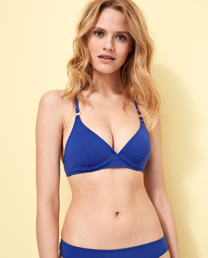 Mini-wire triangle bikini top Mascara blue Numa