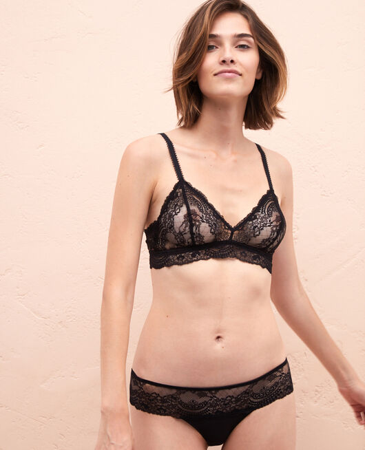 High-cut briefs Black Esquisse