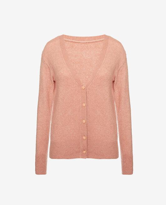 Long-sleeved cardigan Pink kiss Sweet