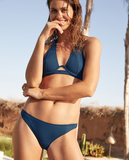 High-cut bikini briefs Sombrero blue Couture