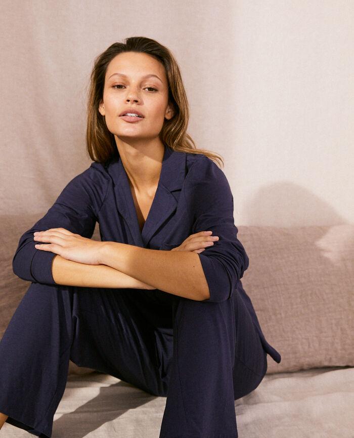 Pyjama jacket Navy Dimanche
