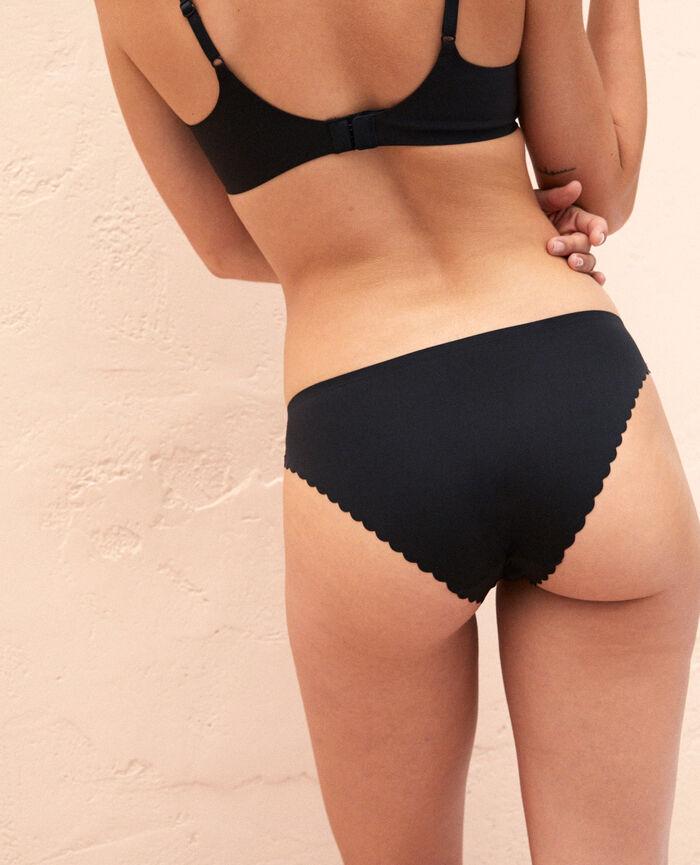 Culotte taille basse Noir Secret