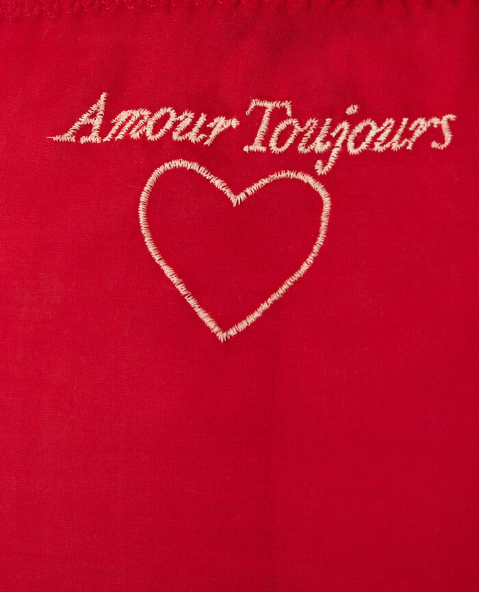 Culotte fantaisie Rouge goji Froufrou