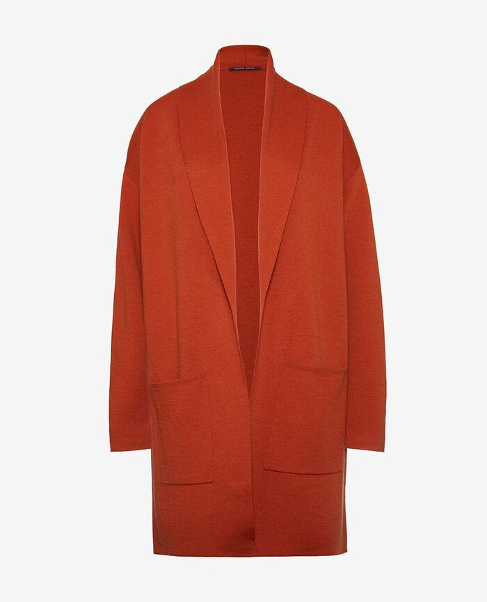 Medium-length jacket Cognac brown Soft