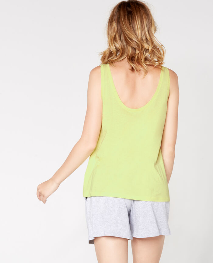 T-shirt sans manches Jaune Laser
