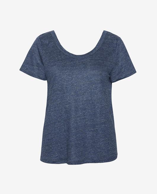 T-shirt manches courtes Indigo Casual lin