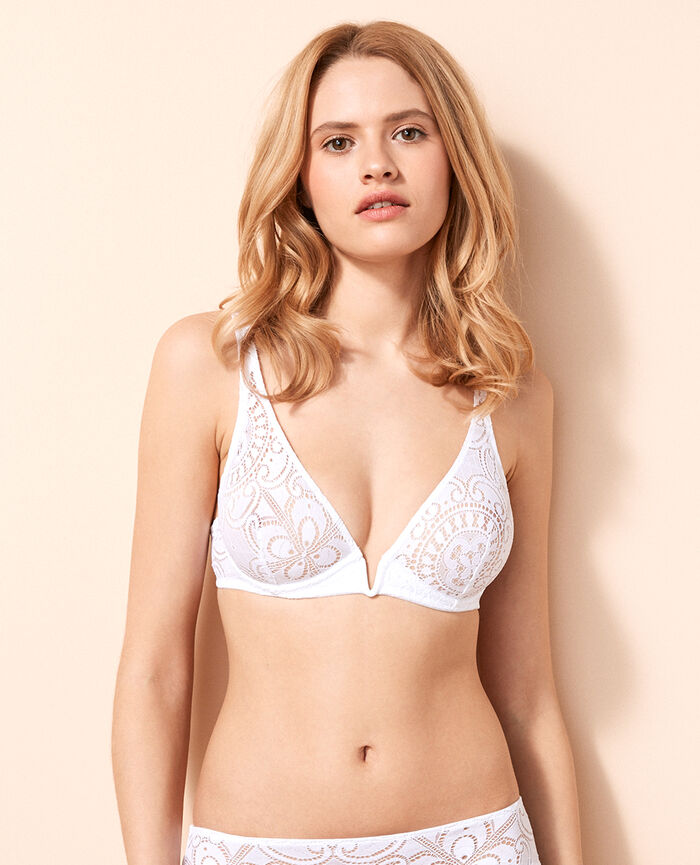 Underwired triangle bra White Evasion