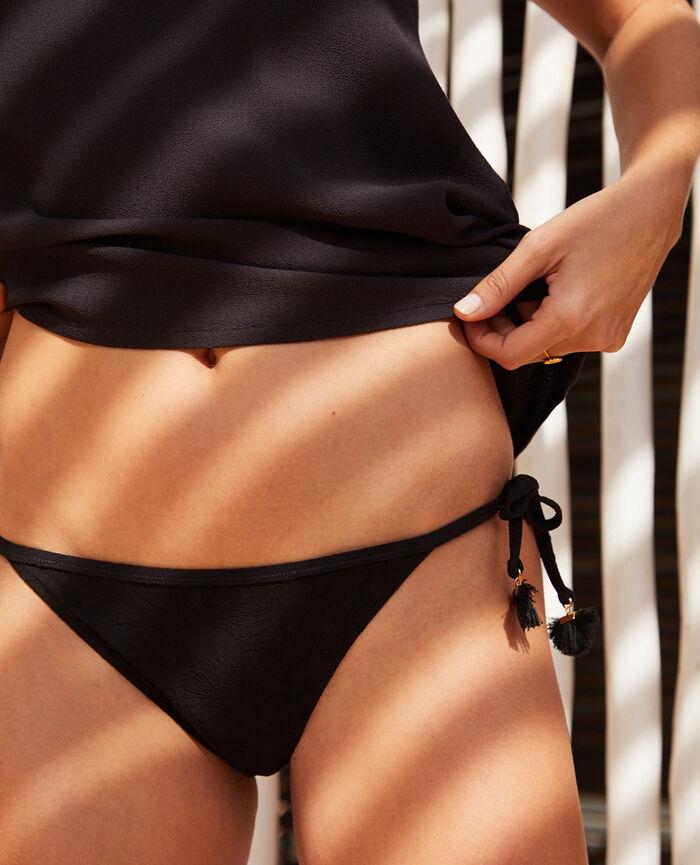Bikini slip Black Pompon