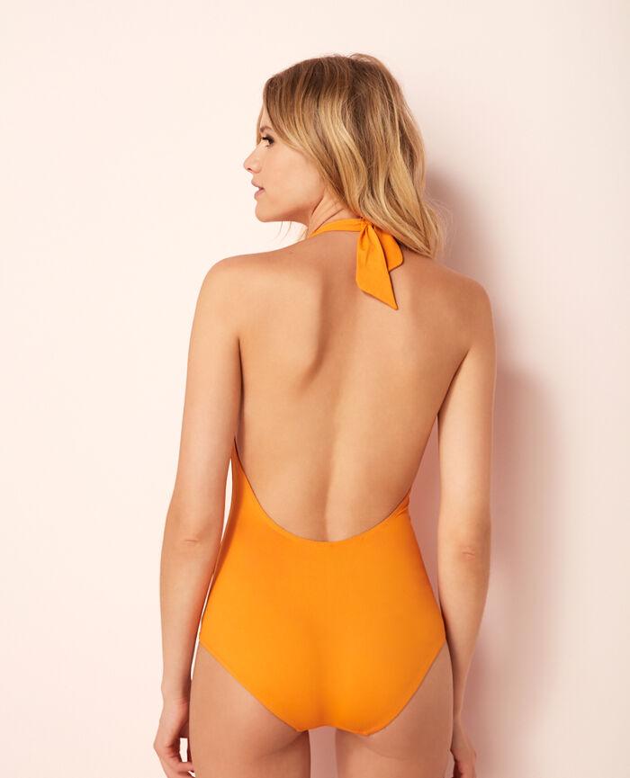 Swimsuit halterneck Maya orange Isaia