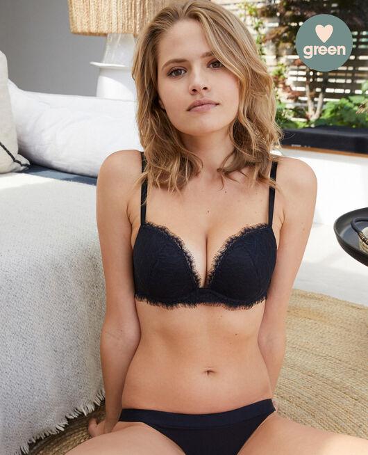 Plunge push-up bra Black Nuit