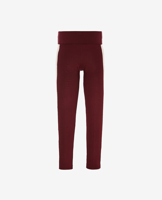 Legging de running galbant long Rouge cassis Run