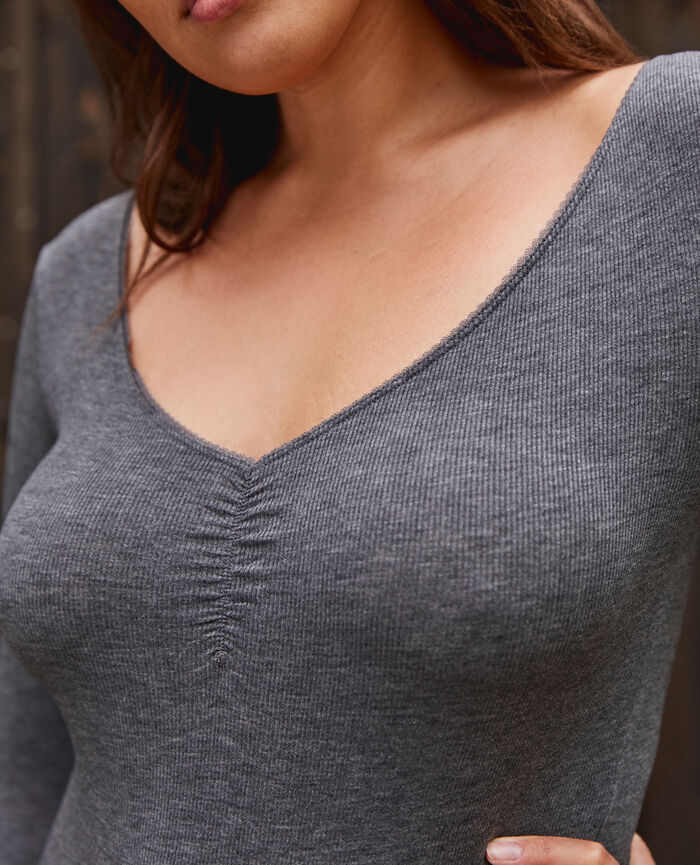 Body Gris anthracite Heattech© lovely