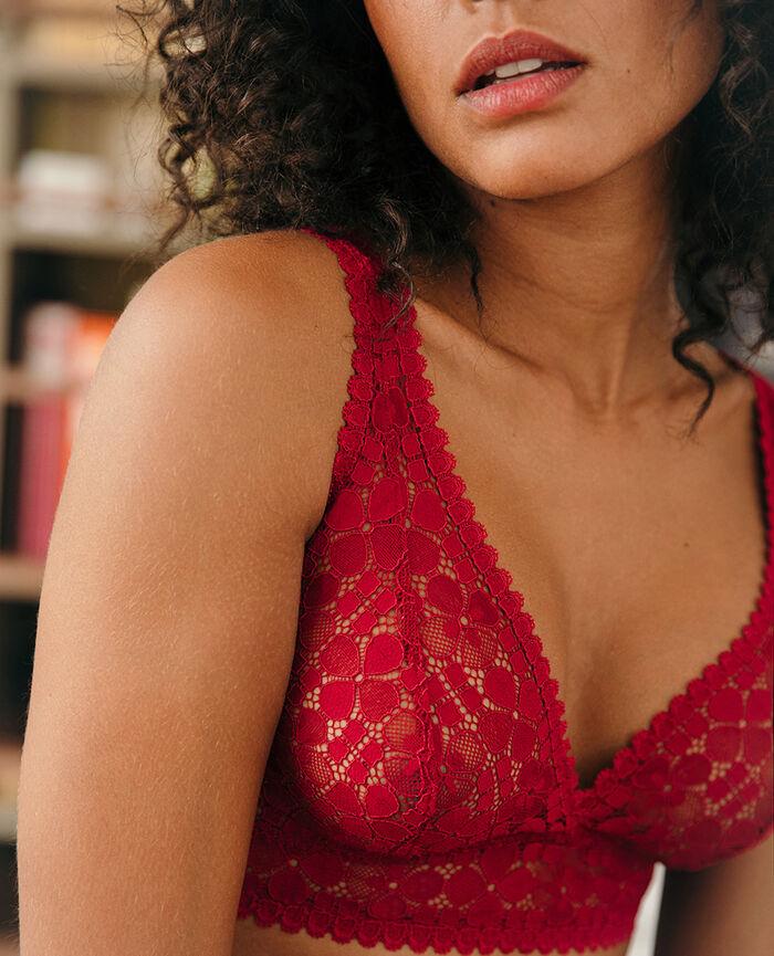 Backless triangle bra Camelia red Josephine