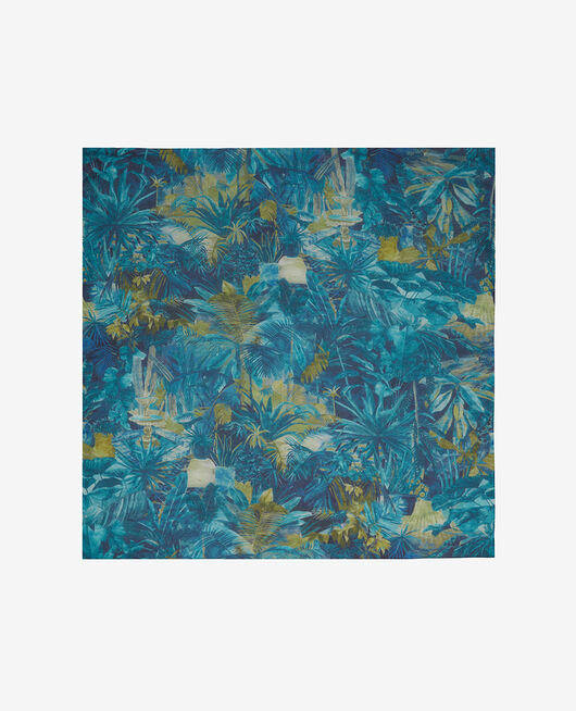 Foulard Palme bleu Jardin