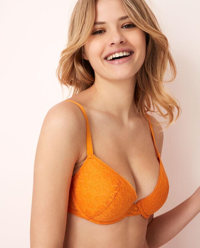 Padded push-up bra Maya orange Azteque