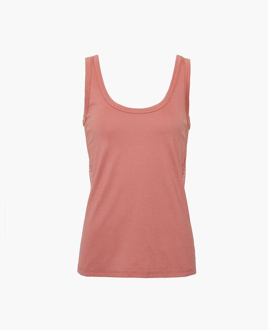 Sports tank top Dune pink Yoga resille