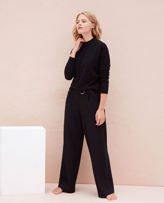 Pantalon large Noir Perspective