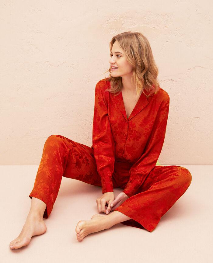 Pyjama jacket Terra cotta Menara