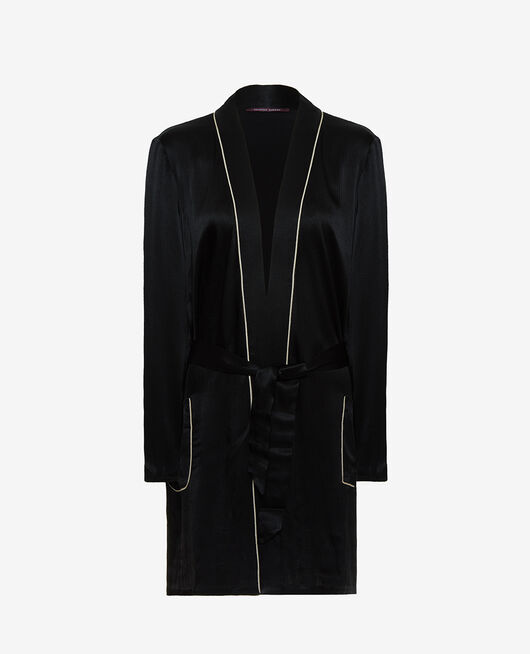Bathrobe Black Subtil