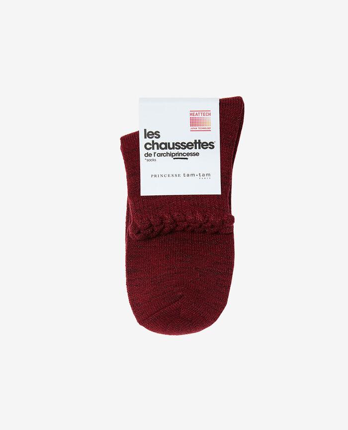 Socks Leather red Sparkle