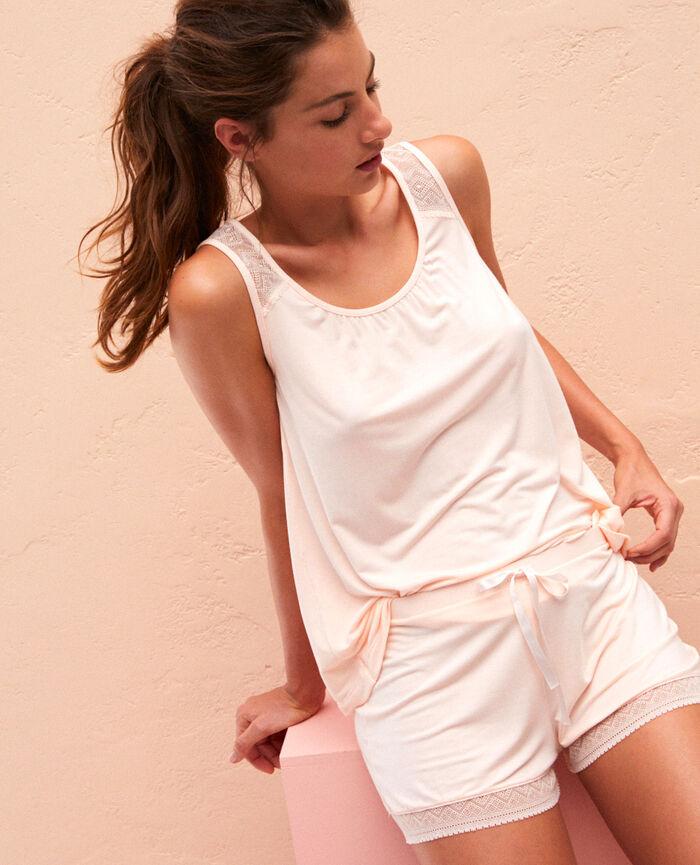 T-shirt sans manches Rose craie Douceur