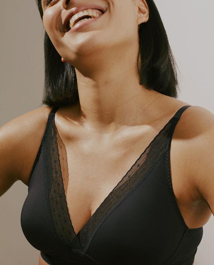 Soutien-gorge sans armatures Noir Infiniment - le feel good