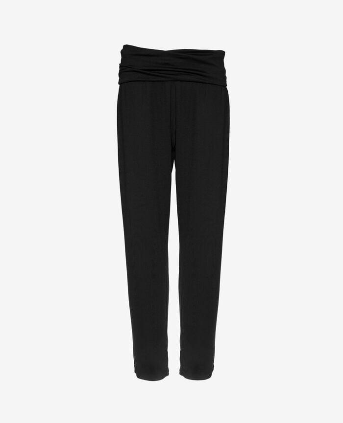 Pantalon de sport ceinture drapée Noir Yoga