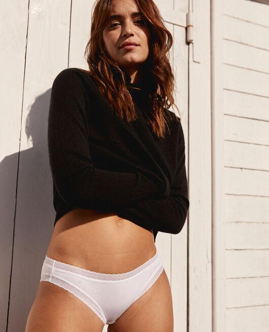 Culotte taille basse Blanc Basics