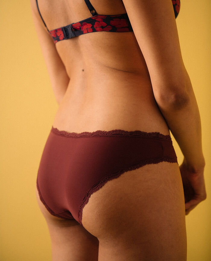 Culotte taille basse Rouge cassis Take away