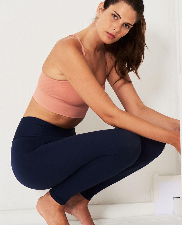 Brassière maintien léger Rose frappé Yoga