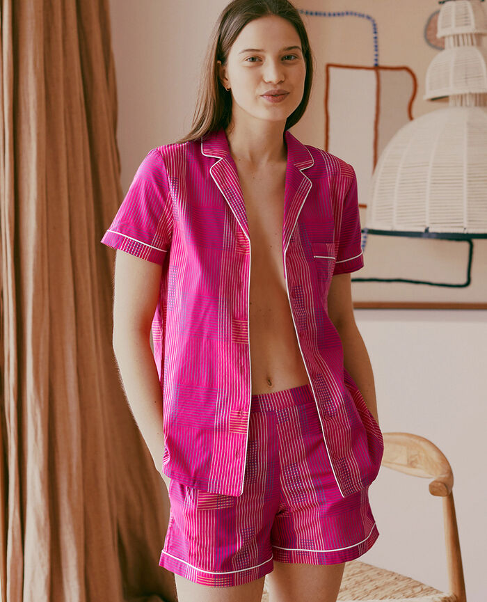 Pyjama set Fuchsia pink weft Tutti frutti