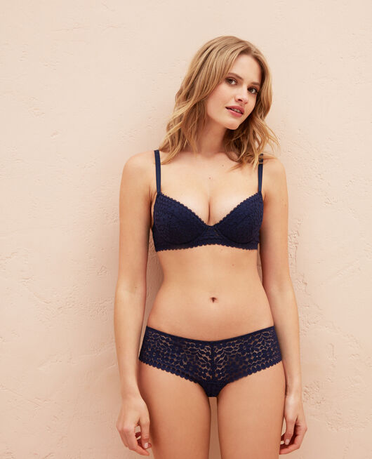 Padded push-up bra Navy Monica