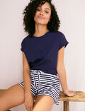 Short de pyjama Rayure bleu marine Echo