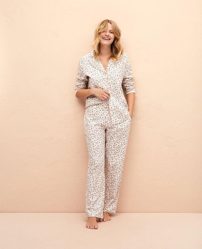 Set de pyjamas Houx ivoire Princesse tam.tam x uniqlo
