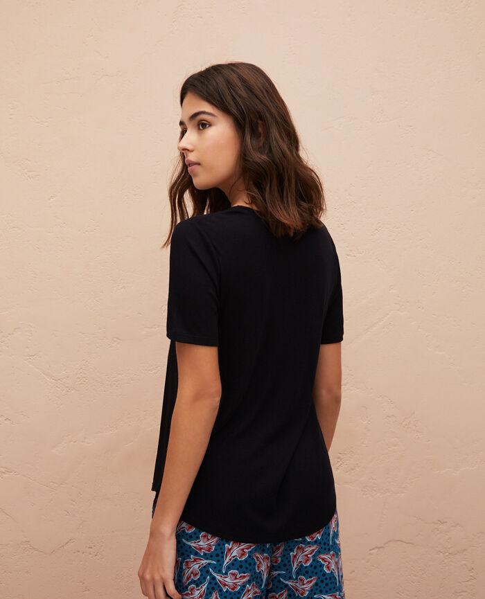 T-shirt manches courtes Noir Latte