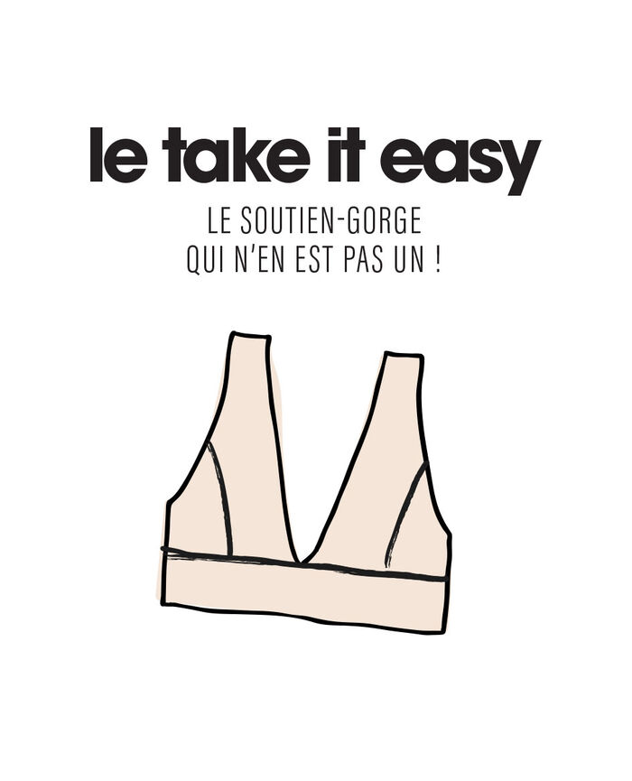 Soft bustier bra White Confidence - the take it easy